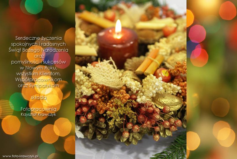 Życzenia Boże Narodzenie fotograf ślubny bochnia