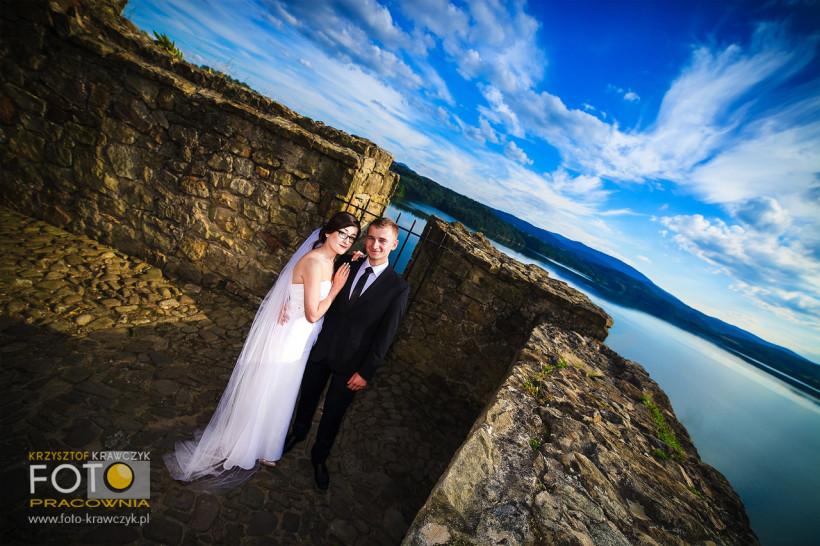 Sesja ślubna Kingi i Dawida na zamku  Dobczyce.